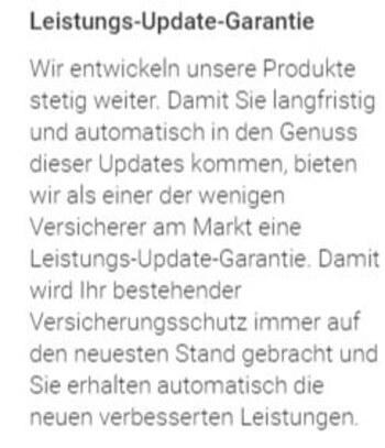 Update Garantie der VHV