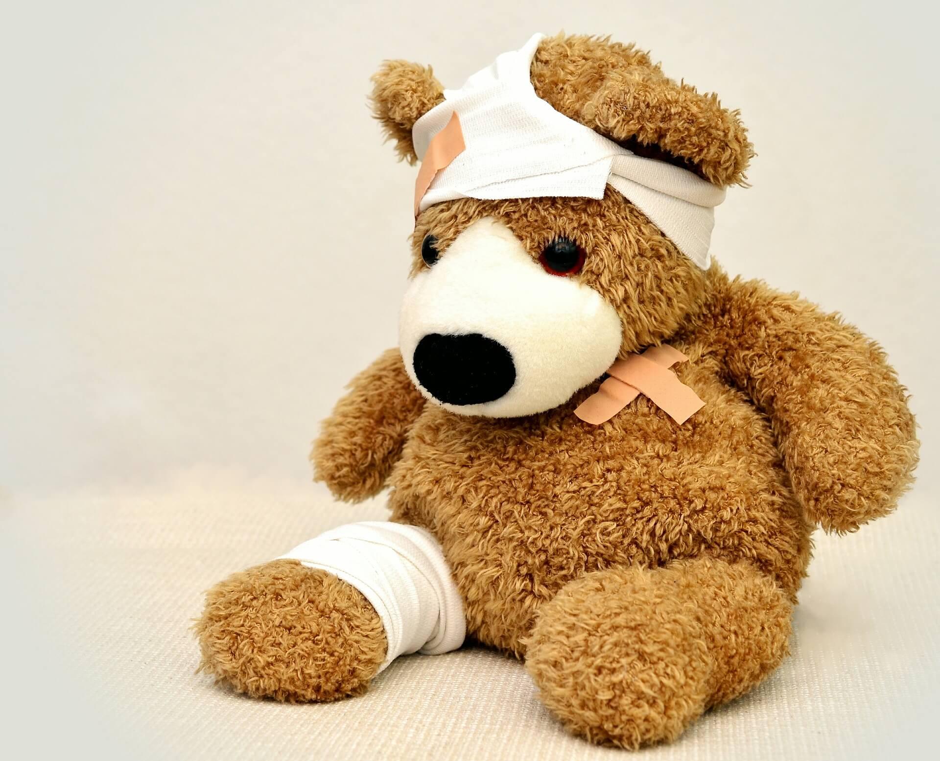 Teddy, Kinderunfall, Versicherung, Unfall, ohne Gesundheitsfragen