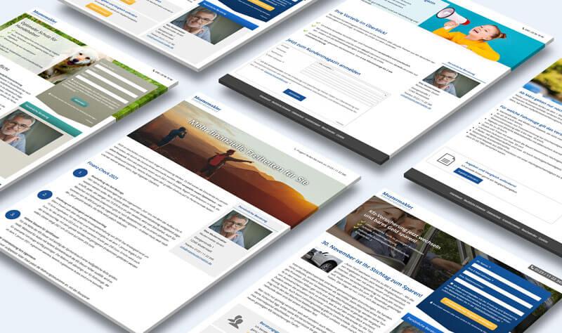 Individuelle Landingpages für Versicherungsmakler
