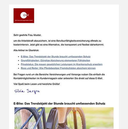 Kundenmagazin der GVK GmbH
