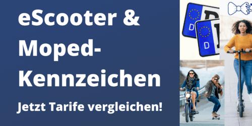 Kennzeichen für Moped & eScooter